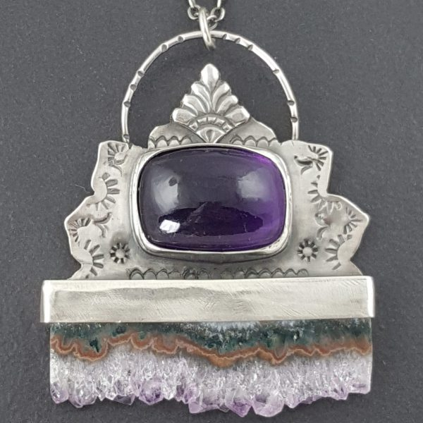 amethyst slice necklace Michele Grady