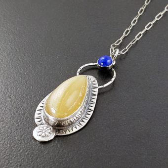 mexican onyx lapis necklace