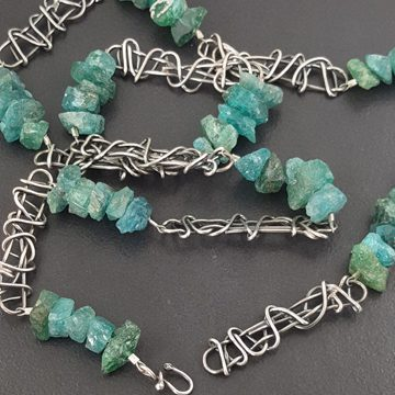 Raw Apatite Bead Necklace