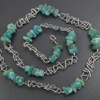 Raw Apatite Bead Necklace Michele Grady