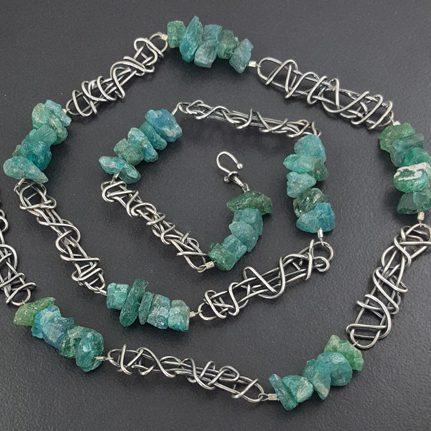 Raw Apatite Bead Necklace Michele Grady