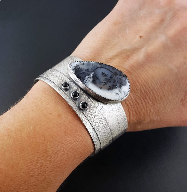 Dendritic Opal Cuff