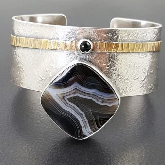 Striped Black Onyx Cuff Michele Grady