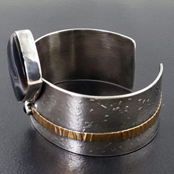 Striped Black Onyx Cuff