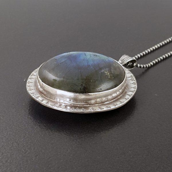 Reversible Labradorite Necklace