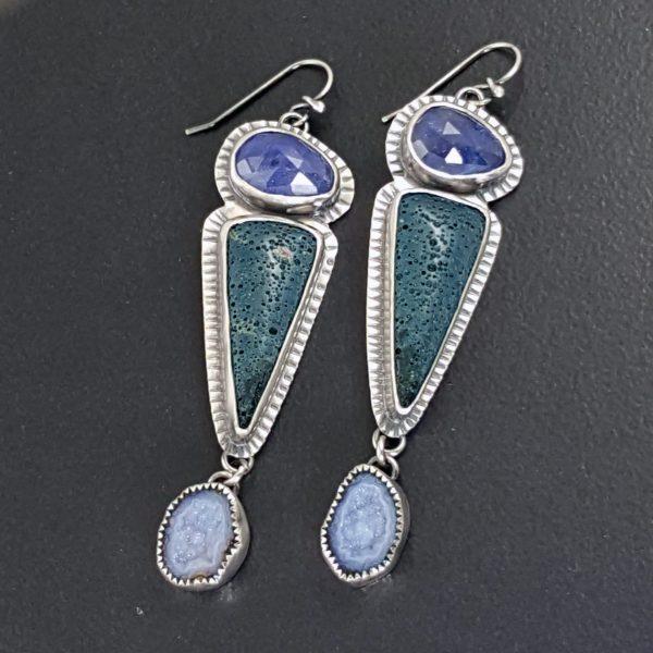 Tanzanite Leland Blue Geode Earrings Michele Grady