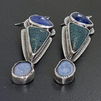 Tanzanite Leland Blue Geode Earrings