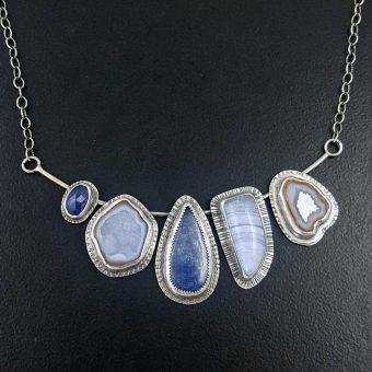 Kyanite Blue Lace Cluster Necklace Michele Grady
