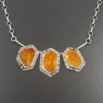 citrine cluster necklace Michele Grady