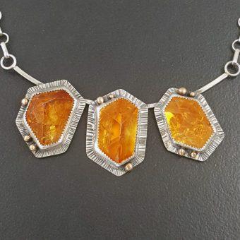 citrine cluster necklace Michele Grady