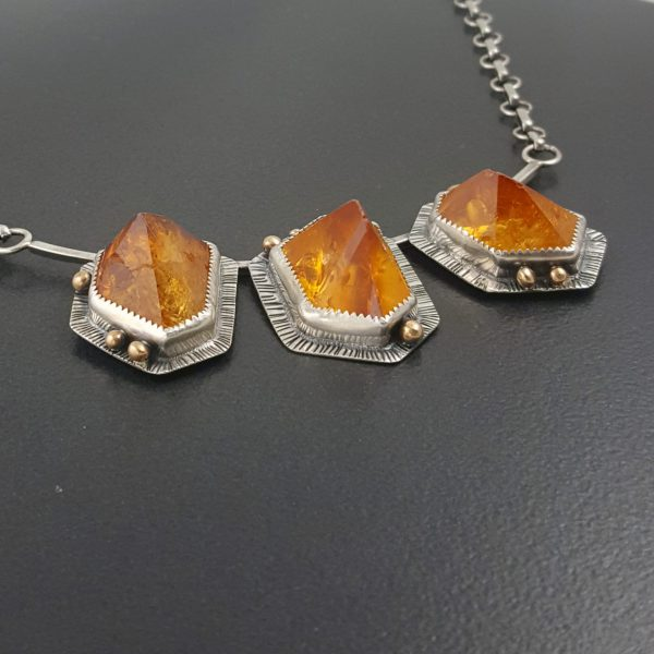 citrine cluster necklace