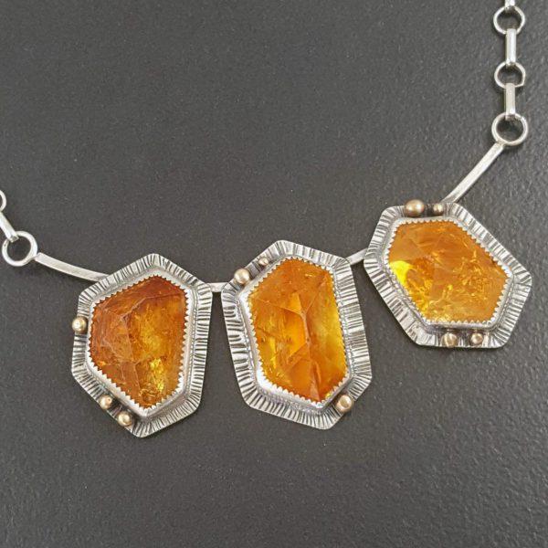 citrine cluster necklace