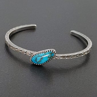 Turquoise stacking cuff Michele Grady