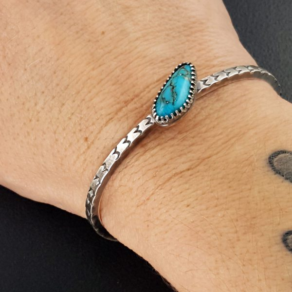 Turquoise stacking cuff