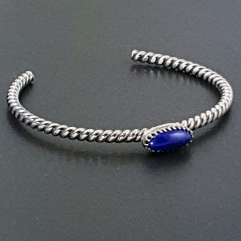 Lapis Stacking Cuff