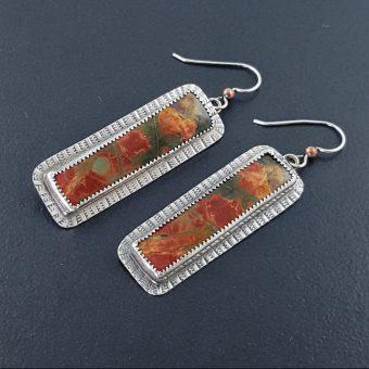 cherry creek jasper earrings Michel Grady