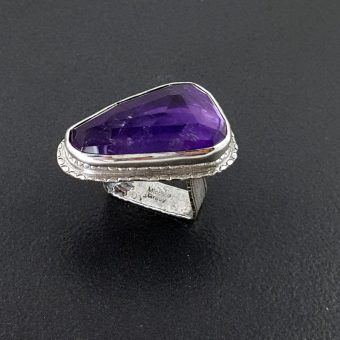 amethyst ring square band Michele Grady