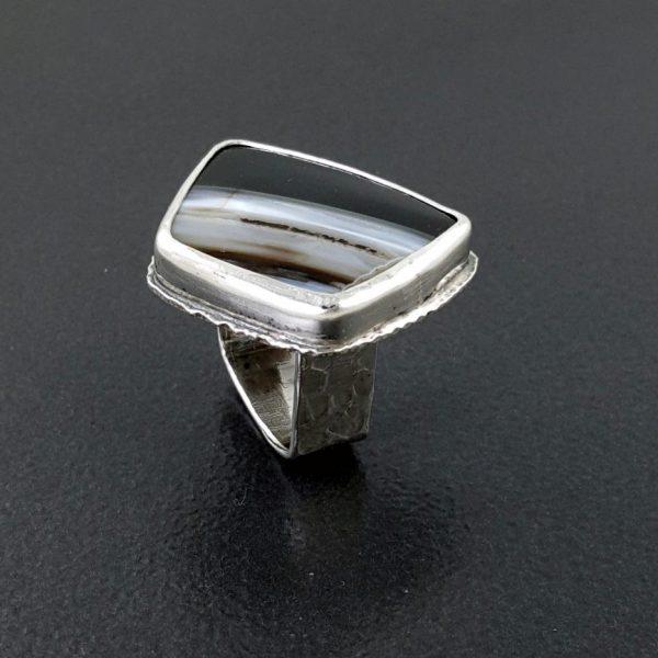 striped black onyx ring Michele Grady
