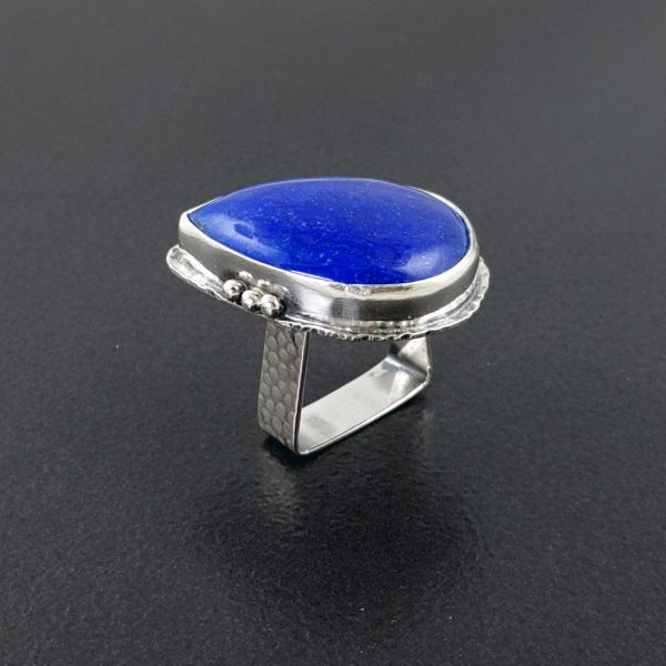 lapis ring square band Michele Grady