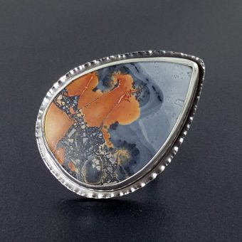 maligano jasper square ring band Michele Grady