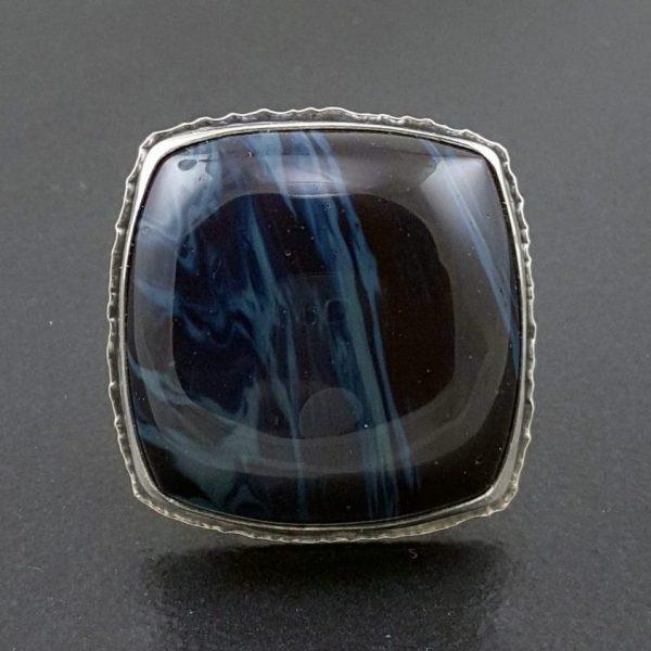 leland blue ring square band Michele Grady