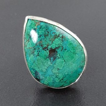 chrysocolla ring square band