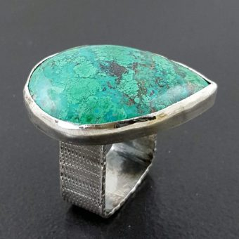 chrysocolla ring square band Michele Grady
