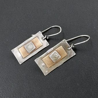 heart dog tag earrings
