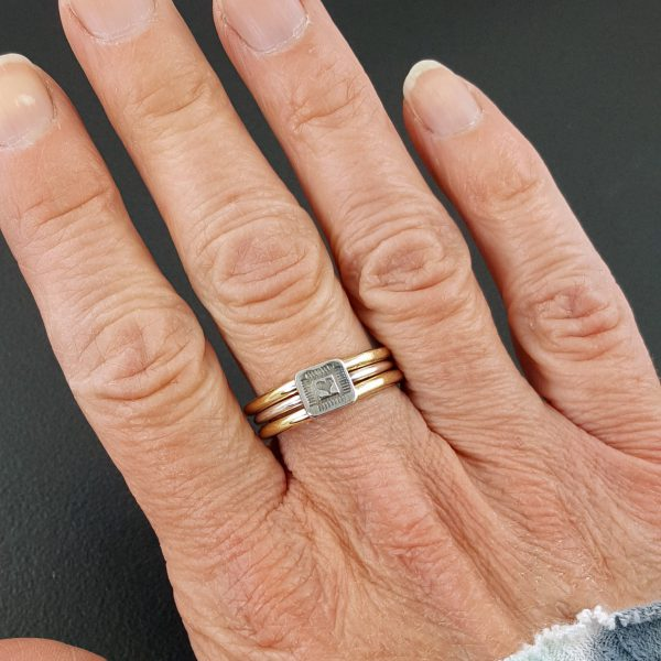 heart patch stacking ring