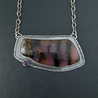 amethyst sage necklace