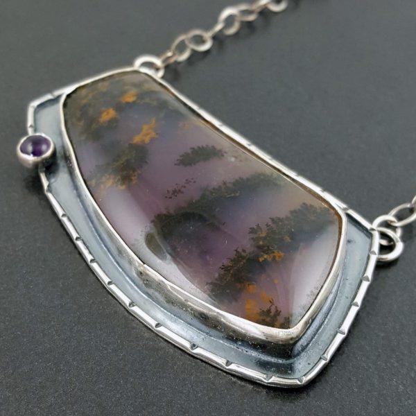 amethyst sage necklace