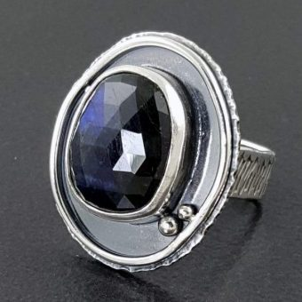 rose cut labradorite ring Michele Grady