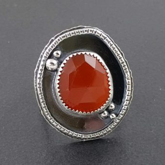 rose cut red onyx ring Michele Grady