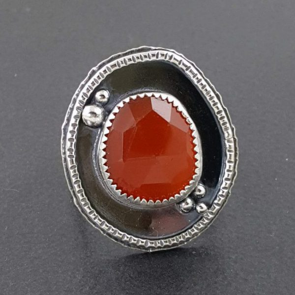 rose cut red onyx ring Michele Grady