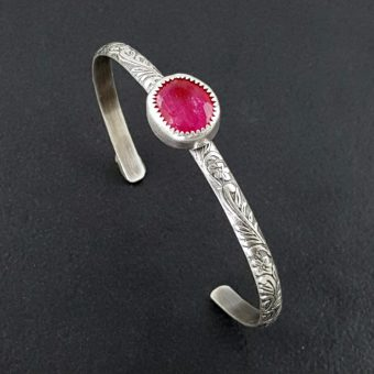 ruby stacking cuff Michele Grady