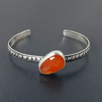 carnelian stacking cuff Michele Grady