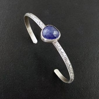 tanzanite stacking cuff Michele Grady