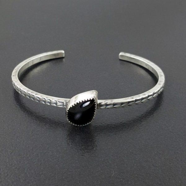 black onyx stacking cuff