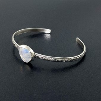 rainbow moonstone stacking cuff