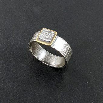 mixed metal heart ring Michele Grady