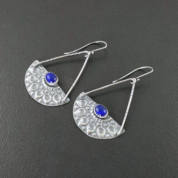 mandala earrings with lapis