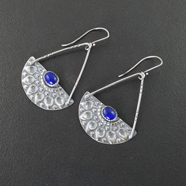 mandala earrings with lapis michele grady