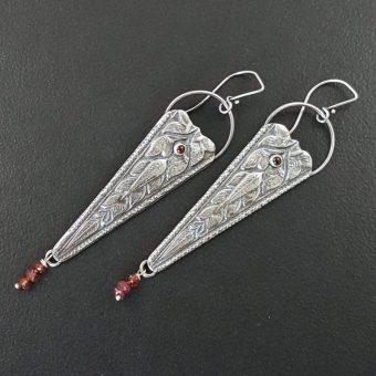garnet vintage die earrings michele grady