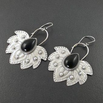 black onyx tribal earrings michele grady