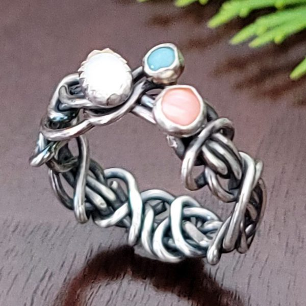 Opal Grapevine Ring Size 6