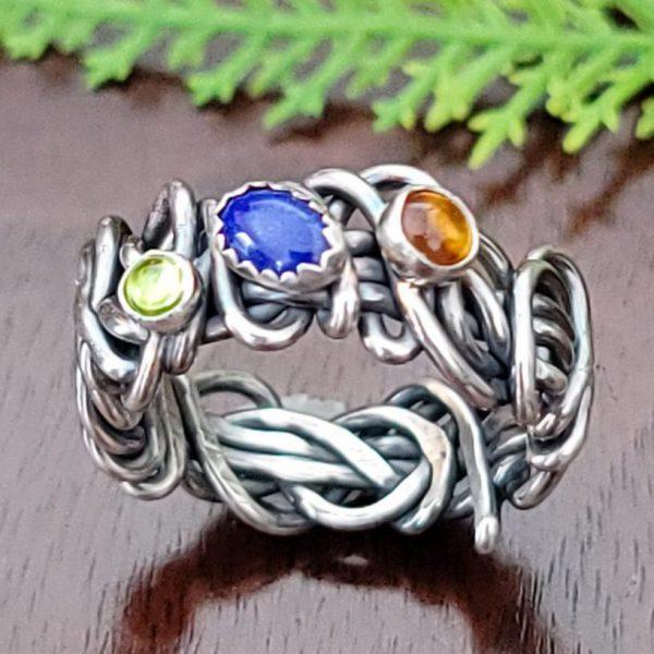 lapis Grapevine Ring Size 7