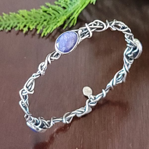 tanzanite grapevine bangle michele grady