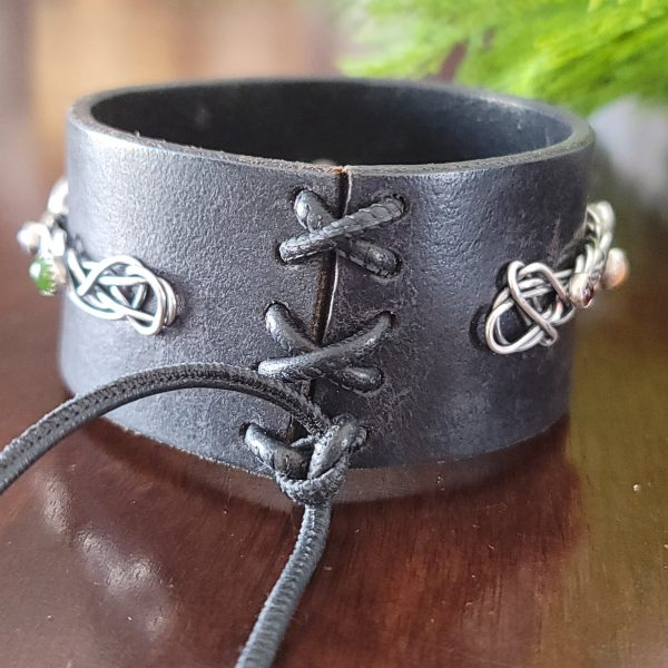 leather grapevine bangle michele grady