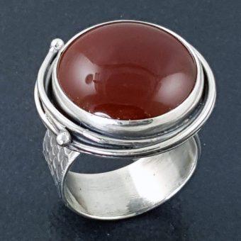 carnelian grapevine ring