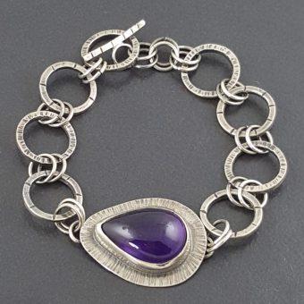 Amethyst Link Bracelet 3